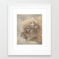 bison Framed Art Prints featuring Bison by Peaky40