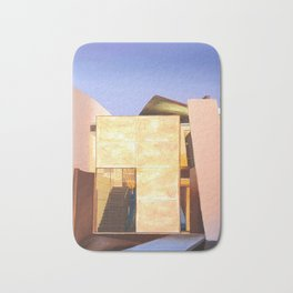 Modern Architecture. oil painting Bath Mat