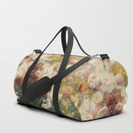 Channeling Caillebotte - Chrysanthemums Duffle Bag