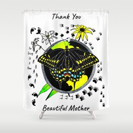 Beautiful Mother Shower Curtain