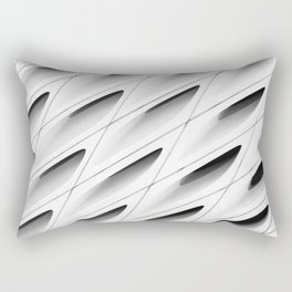 The Broad In the Afternoon Black & White Pattern Photography I Rectangular Pillow