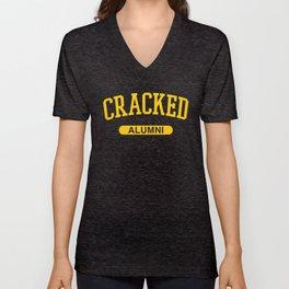 Cracked Alumni Unisex V-Neck