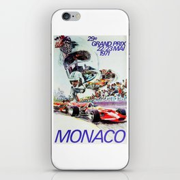 Gran Prix de Monaco, 1971, original vintage poster iPhone Skin