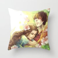 zuko Throw Pillows featuring Dreamers by TEAM JUSTICE ink.