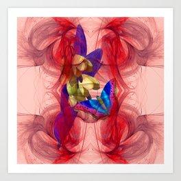 Vibrant butterfly in an alien storm Art Print