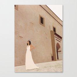 New White Dress II Canvas Print