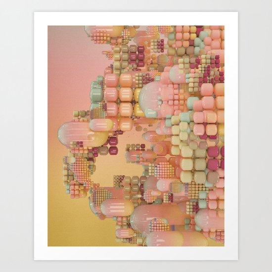 LOW BATTERY MODE (everyday 08.23.16) Art Print