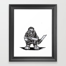 Space Dwarf Framed Art Print