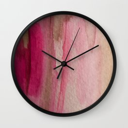 Blush: a pretty and gentle watercolor piece in pinks and browns Wall Clock