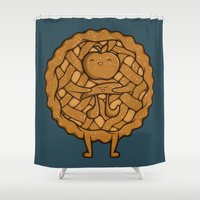 pi Shower Curtains featuring Apple Pi by Perdita