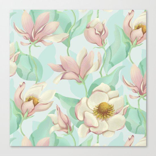 magnolia bloom - fairy version Canvas Print