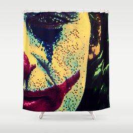 8 bit joker Shower Curtain