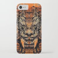tooth iPhone & iPod Cases featuring Saber Tooth by Zandonai