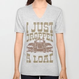 I Just Dropped A Load Retro Classic Car Trucker Gifts For Truck Drivers Unisex V-Neck