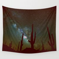 milky way Wall Tapestries featuring milky way by 2sweet4words Designs