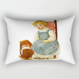 Vintage Girl Baby Doll Rectangular Pillow
