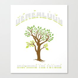 Genealogist Preserving The Family Tree Gift Canvas Print