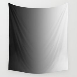 Black to White Vertical Linear Gradient Wall Tapestry