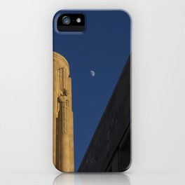 Half Moon over Tower iPhone Case