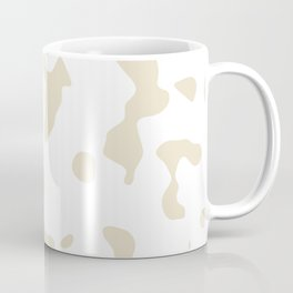Large Spots - White and Pearl Brown Coffee Mug