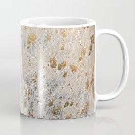 Gold Hide Print Metallic Coffee Mug