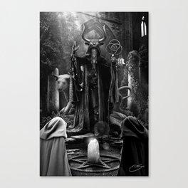 V. The Hierophant Tarot Card Illustration  Canvas Print