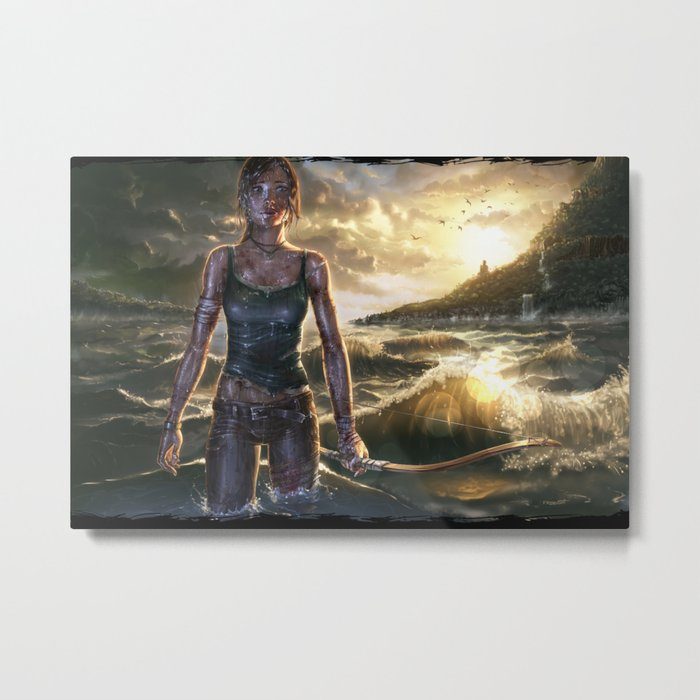 Lara Croft Metal Print