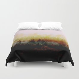 Burn in Forest Duvet Cover
