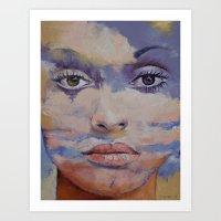 mona lisa Art Prints featuring Mona Lisa by Michael Creese