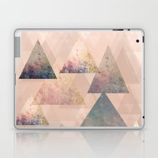Pastel Abstract Textured Triangle Design Laptop & iPad Skin