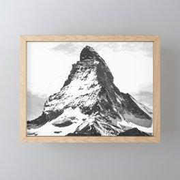 Black and White Mountain Framed Mini Art Print