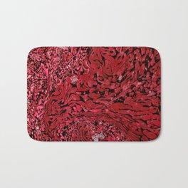 RED MARBLE Bath Mat