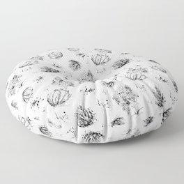 Ink Plants Floor Pillow