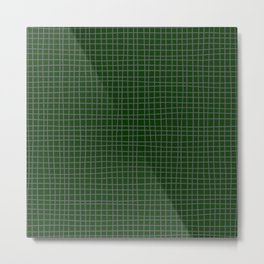 Emerald Green Grid Metal Print