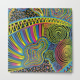 yellow rainbow Metal Print