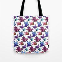 minerals Tote Bags featuring Minerals by Bird & Bow Studios