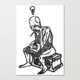 Writer's Block: Gray Variant Canvas Print