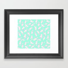 Lazy Cat Pattern Solid Framed Art Print