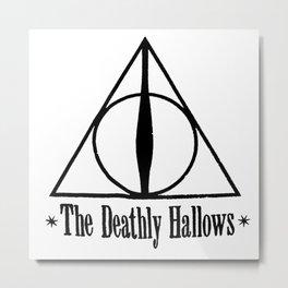 Deathly Hallows HarryPotter Metal Print