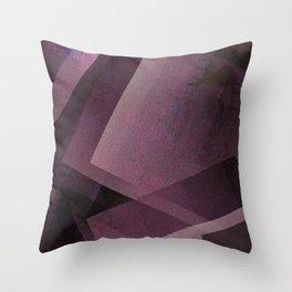 Posh Pink - Digital Geometric Texture Throw Pillow