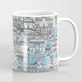 Paris toile cornflower blue Coffee Mug