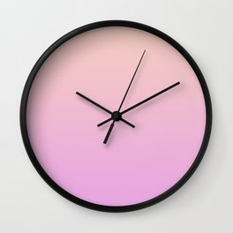 A gentle gradient in pink. Wall Clock