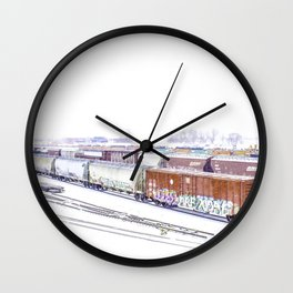 Cold Trains Wall Clock