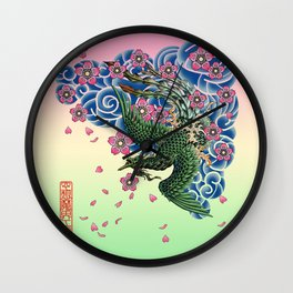 Tattoo Fenghuang Wall Clock