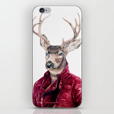Deer In Leather iPhone & iPod Skin