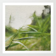 JUST GREEN. Art Print