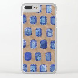 Sapphires Clear iPhone Case