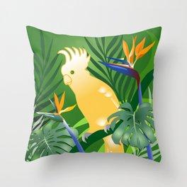 Cockatoo Paradise Throw Pillow
