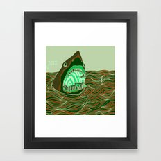 Piano Shark Framed Art Print