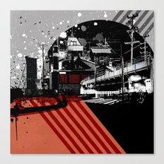 CMYK Triptych - Magenta Canvas Print